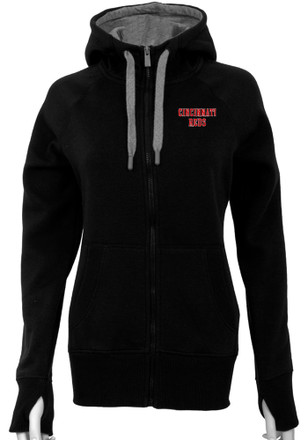 Antigua Cincinnati Reds Womens Black Victory Full Zip Jacket