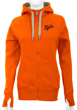 Antigua Detroit Tigers Womens Orange Victory Full Zip Jacket