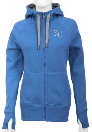 Antigua Kansas City Royals Womens Blue Victory Full Zip Jacket