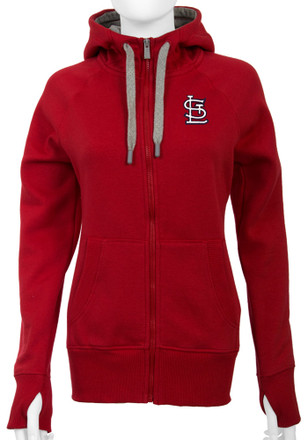 Antigua St Louis Cardinals Womens Red Victory Full Zip Jacket