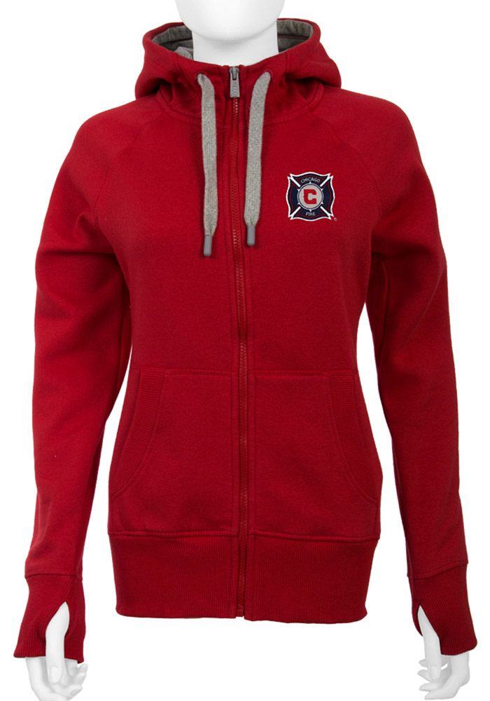 Chicago Fire Womens Antigua Victory Full Zip Jacket - Red