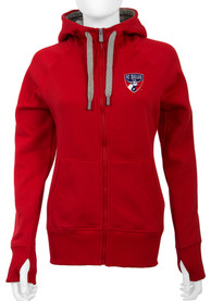 Antigua FC Dallas Womens Red Victory Full Zip Jacket
