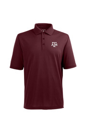 Antigua Texas A&M Mens Maroon Pique Xtra-Lite Short Sleeve Polo Shirt