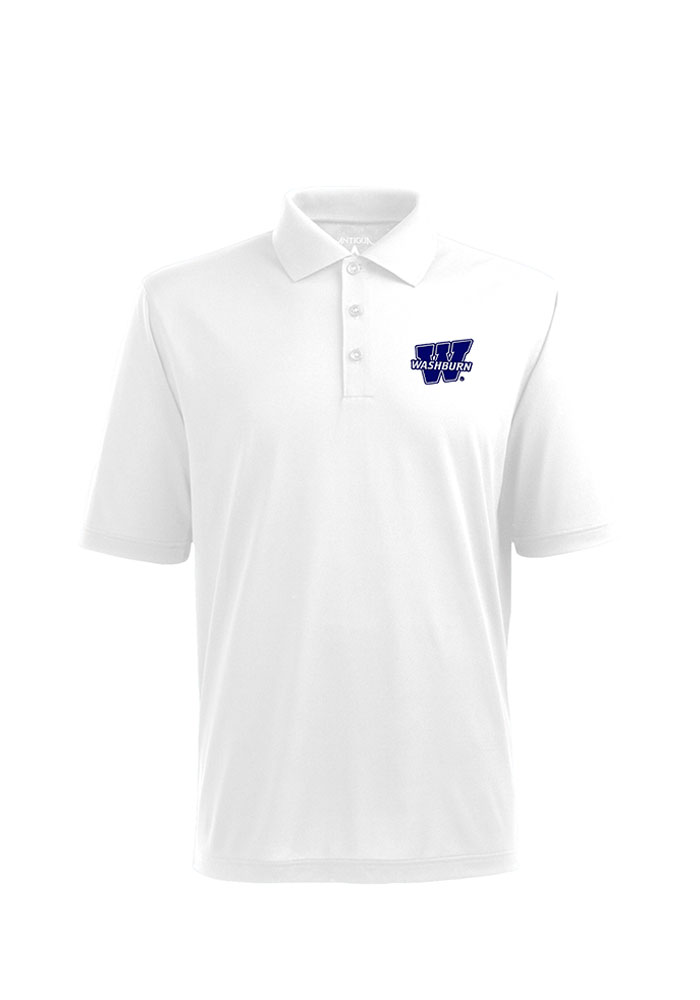 Washburn Ichabods Antigua Pique Xtra-Lite Polo Shirt - White