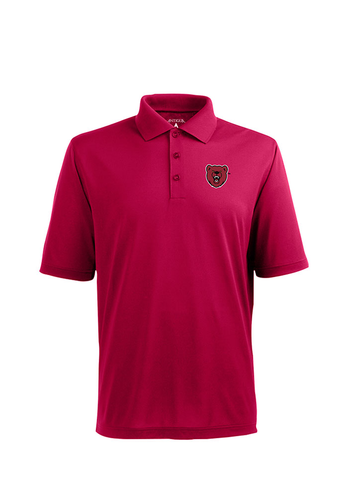 Antigua Ursinus Bears Mens Cardinal Pique Xtra-Lite Short Sleeve Polo - Image 1
