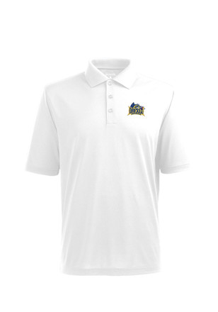 Antigua Drexel Dragons Mens White Pique Xtra-Lite Short Sleeve Polo Shirt