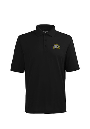 Antigua Northern Kentucky Norse Mens Black Pique Xtra-Lite Short Sleeve Polo Shirt