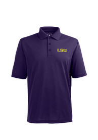 Antigua LSU Tigers Purple Pique Xtra-Lite Short Sleeve Polo Shirt