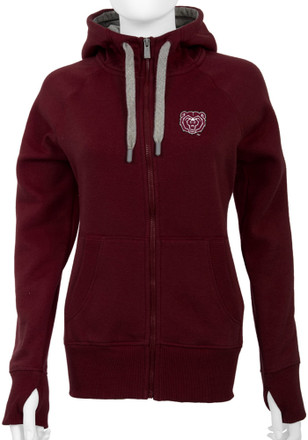 Antigua MO State Womens Maroon Victory Full Zip Jacket