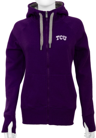 Antigua Horned Frogs Womens Purple Victory Full Zip Jacket