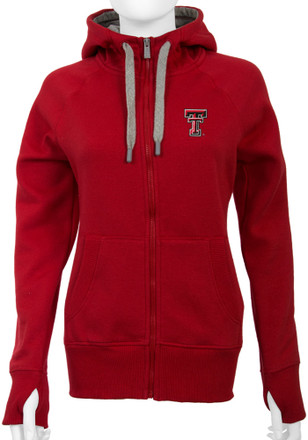 Antigua Texas Tech Womens Red Victory Full Zip Jacket
