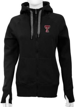 Antigua Texas Tech Womens Black Victory Full Zip Jacket