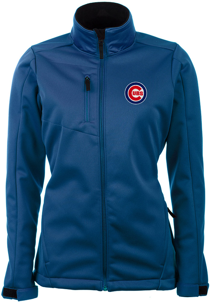 Antigua Chicago Cubs Womens Blue Traverse Heavy Weight Jacket - Image 1