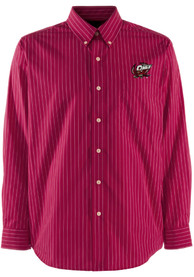 Temple Owls Antigua Achieve Dress Shirt - Red