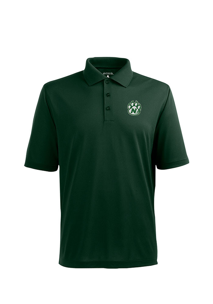 Antigua Northwest Missouri State Bearcats Mens Grey Pique Xtra-Lite Short Sleeve Polo - Image 1