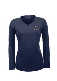 Antigua Philadelphia Union Womens Navy Blue Flip Women's V-Neck