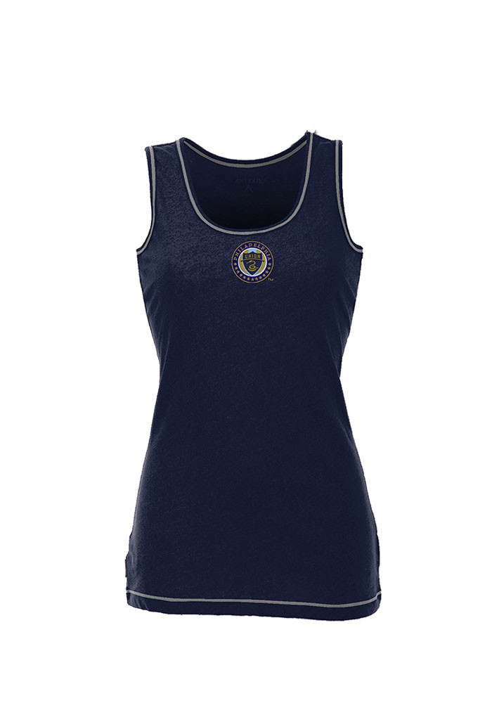 Antigua Philadelphia Union Womens Navy Blue Sport Tank Top - Image 1