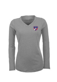 Antigua FC Dallas Womens Grey Flip Women's V-Neck