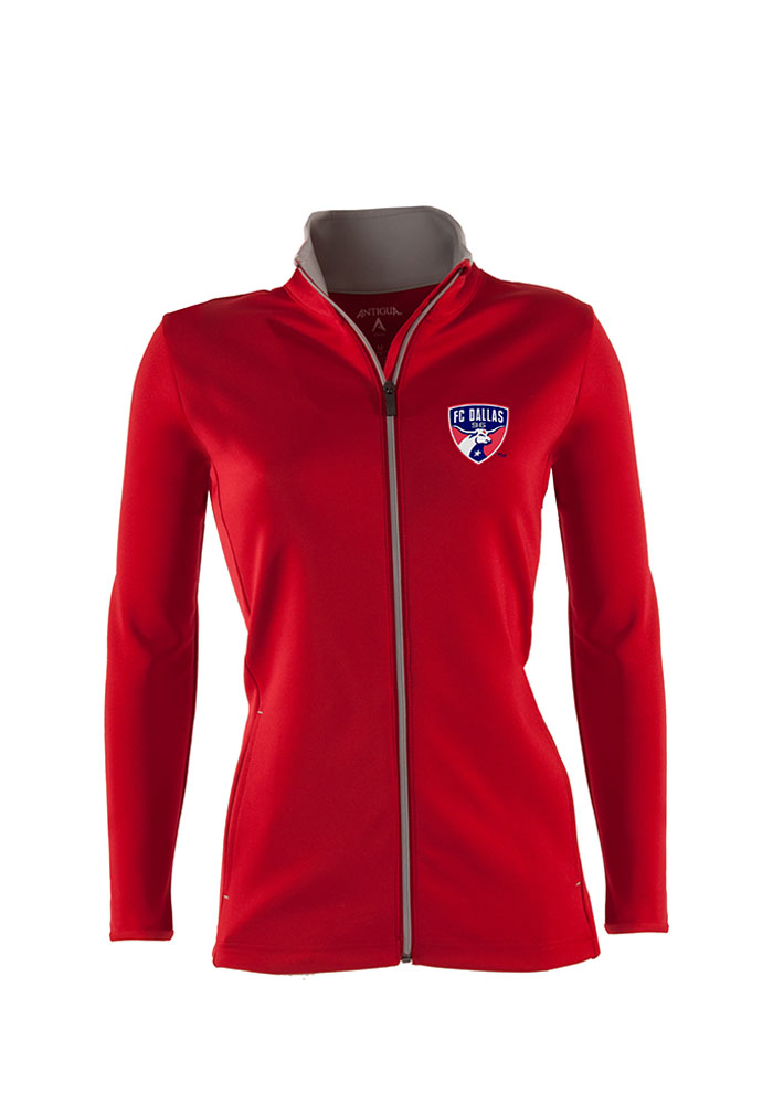 Antigua FC Dallas Womens Red Leader Light Weight Jacket - Image 1