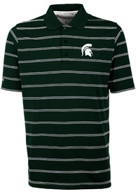 Antigua Michigan State Spartans Green Deluxe Short Sleeve Polo Shirt