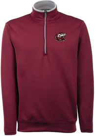Antigua Temple Owls Red Leader 1/4 Zip Pullover