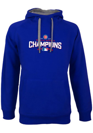 Antigua Chicago Cubs Mens Blue Victory Hoodie