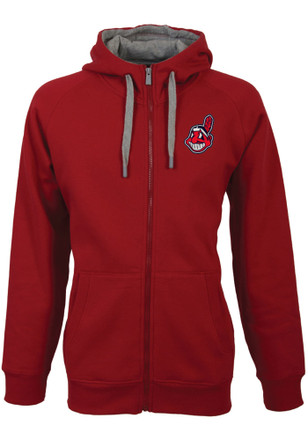 Antigua Cleveland Indians Mens Red Victory Full Zip Jacket