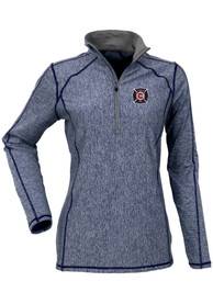 Chicago Fire Womens Antigua Tempo 1/4 Zip - Navy Blue