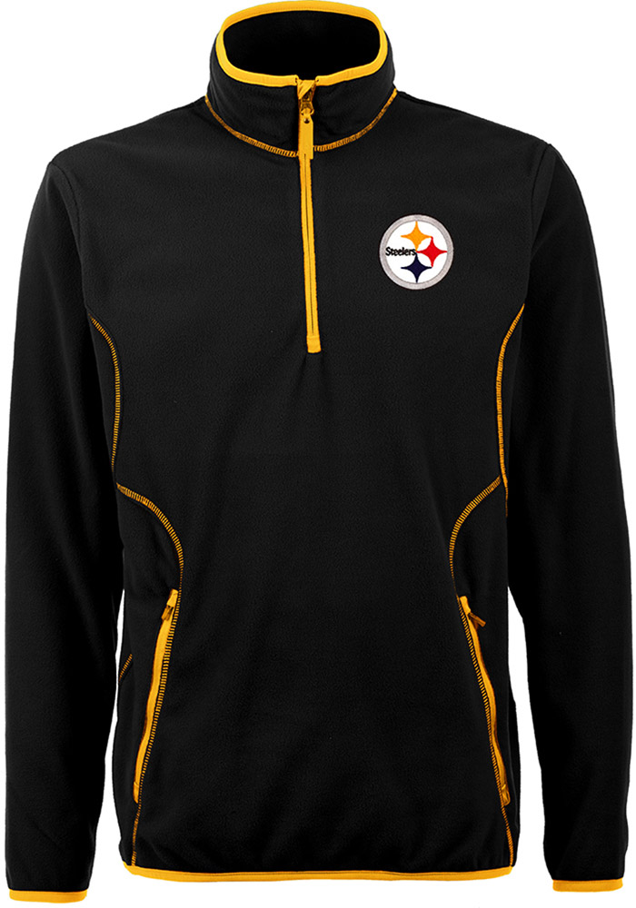 42bfb3c19bc Antigua Pittsburgh Steelers Black Ice 1 4 Zip Pullover