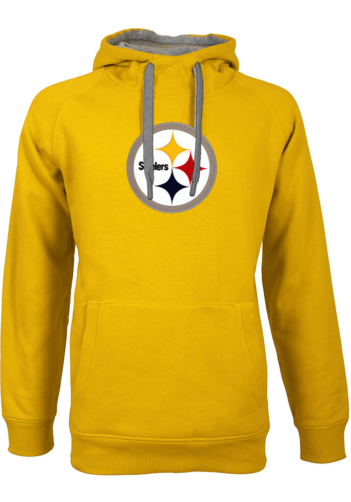 purchase cheap b53db 3055c Antigua Pittsburgh Steelers Mens Gold Victory Long Sleeve Hoodie