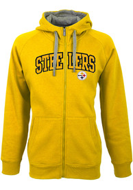Pittsburgh Steelers Antigua Victory Full Zip Jacket - Gold