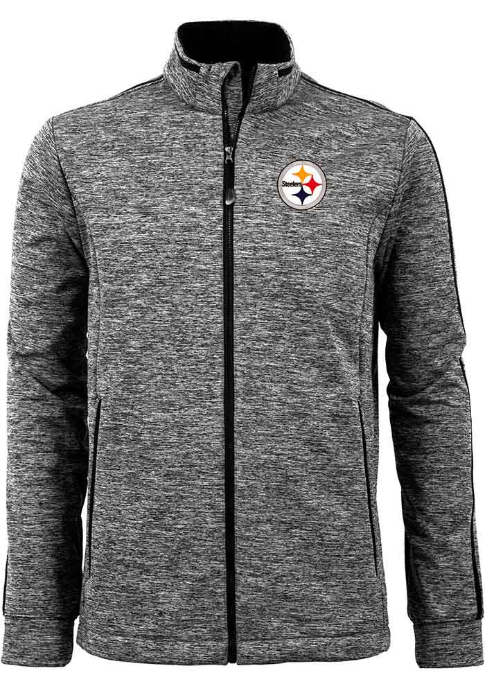 Antigua Pittsburgh Steelers Mens Black Golf Medium Weight Jacket - Image 1