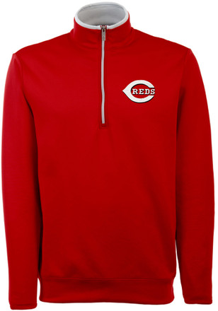 Antigua Cincinnati Reds Mens Red Leader 1/4 Zip Pullover