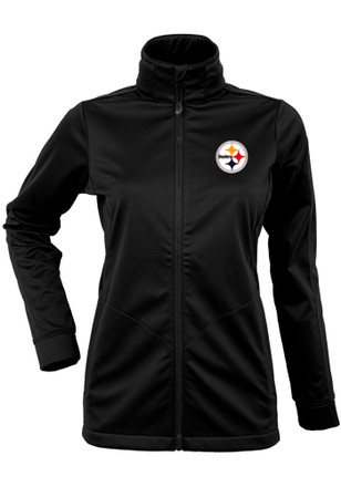 Antigua Pitt Steelers Womens Golf Black Heavy Weight Jacket