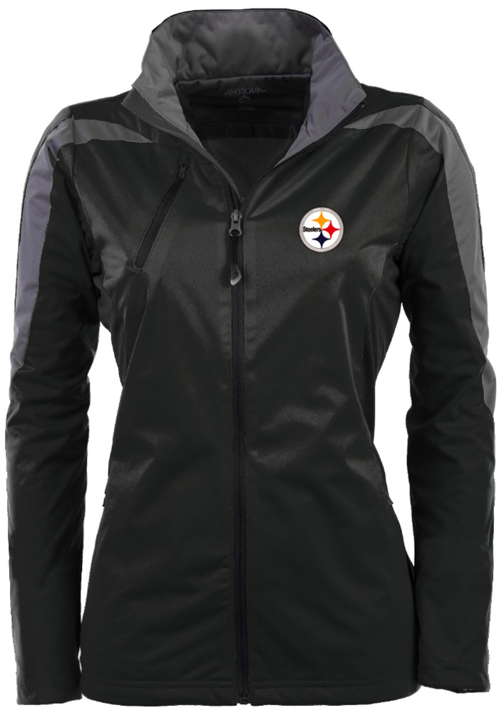 new concept 169d6 cb488 Antigua Pittsburgh Steelers Womens Black Discover Light Weight Jacket