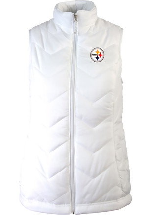 Antigua Pitt Steelers Womens White Heiress Vest