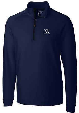 Cutter and Buck Xavier Musketeers Mens Navy Blue Jackson 1/4 Zip Pullover