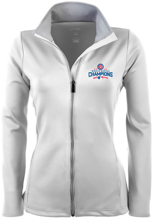 Antigua Chicago Cubs Womens White Leader Light Weight Jacket