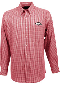 Antigua Arkansas Razorbacks Cardinal Associate Dress Shirt
