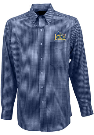 Antigua Drexel Dragons Mens Navy Blue Associate Dress Shirt