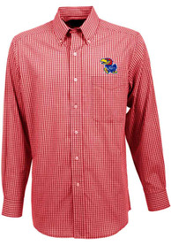 Antigua Kansas Jayhawks Red Associate Dress Shirt