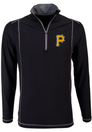 Antigua Pittsburgh Pirates Mens Black Tempo 1/4 Zip Pullover