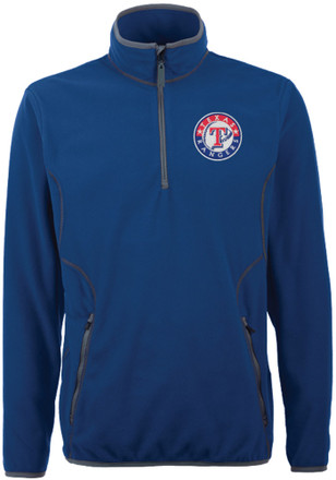 Antigua Texas Rangers Mens Blue Ice 1/4 Zip Pullover