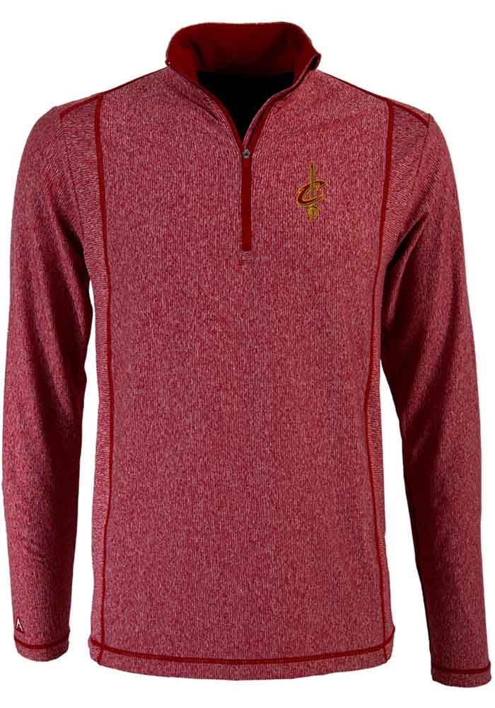 Antigua Cleveland Cavaliers Mens Red Tempo Long Sleeve 1/4 Zip Pullover - Image 1
