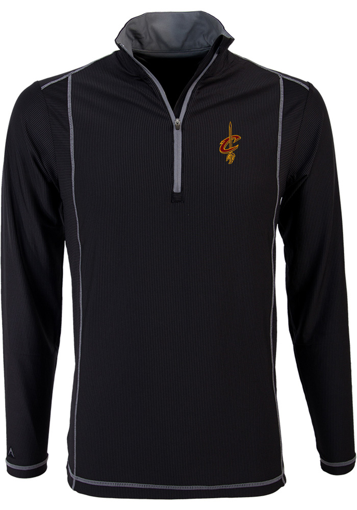 Antigua Cleveland Cavaliers Mens Black Tempo Long Sleeve 1/4 Zip Pullover - Image 1
