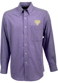 West Chester Golden Rams Antigua Associate Dress Shirt - Purple