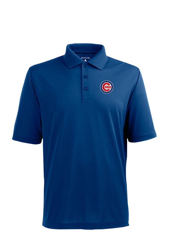 Antigua Chicago Cubs Mens Blue Xtra-Lite Short Sleeve Polo - Image 1