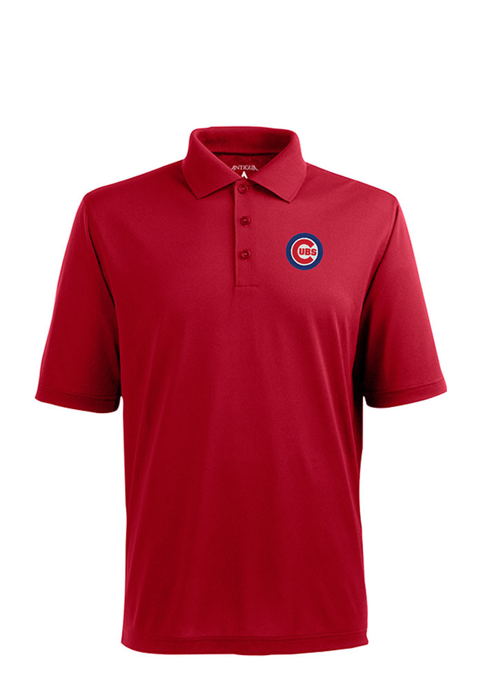 Antigua Chicago Cubs Mens Red Xtra-Lite Short Sleeve Polo - Image 1