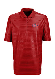 Antigua Cincinnati Reds Mens Red Illusion Short Sleeve Polo Shirt