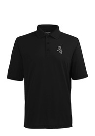 Antigua Chicago White Sox Mens Black Xtra-Lite Short Sleeve Polo Shirt